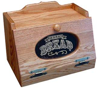 Oak Bread Box with Plexiglass Front