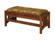 "36"" Cubic Slat Foot Stool"