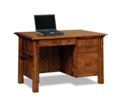 Artesa 3 Drawer Desk with Unfinished Backside
