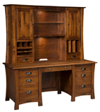 Arts & Crafts Wall Desk with Hutch