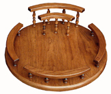 "12 & 16"" Lazy Susan with Napkin Holder"