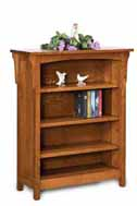Bridger Mission 3 Shelf 4' Bookcase