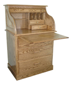 "30"" Full Pedestal Rolltop Desk"