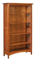 Arts & Crafts Mission Slat Bookcase