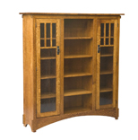 "60"" Mission Display Bookcase with Seedy Glass"