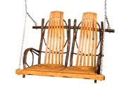 Hickory Double Rocker Style Swing