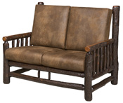 Hickory Love Seat - Frame Only