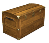 Trunk with Rounded Lid Chest