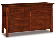 "Artesa 75"" 9 Drawer Dresser"