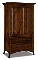 Carlisle  2 Drawer 2 Door Armoire