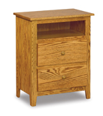 Shaker 2 Drawer Night Stand with Opening