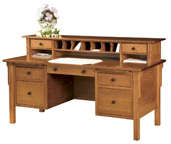 Centennial Flat Top Desk with Hutch