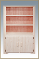 Homestead Bookcase with 2 Doors Storage