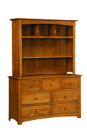Monterey 7 Drawer Dresser with Hutch Top