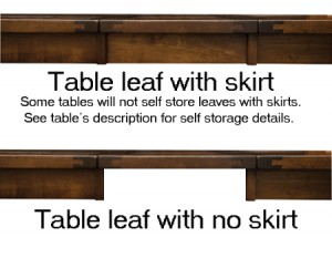 What Are Dining Table Leaf Skirts?