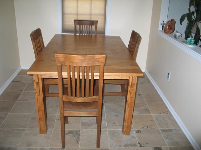 Simple Hood us Leg Mission Dining Table
