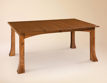 Breckenridge Dining Table with specialized Clydesdale legs from Amish Furniture Factory