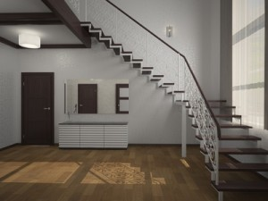 staircase in the lobby 3d