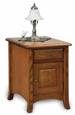 Carlisle Enclosed End Table with Drawer & Door