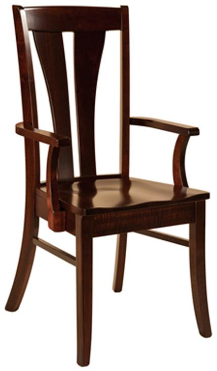 Mansfield Dining Chair, Arm or Side from Amish Furniture Factory