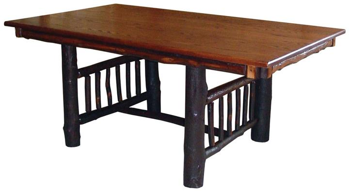 Hickory Mission Trestle Table