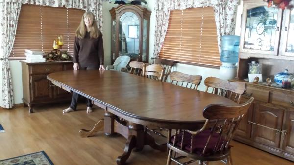 Double Pedestal Dining Table from Amish Furniture Factory