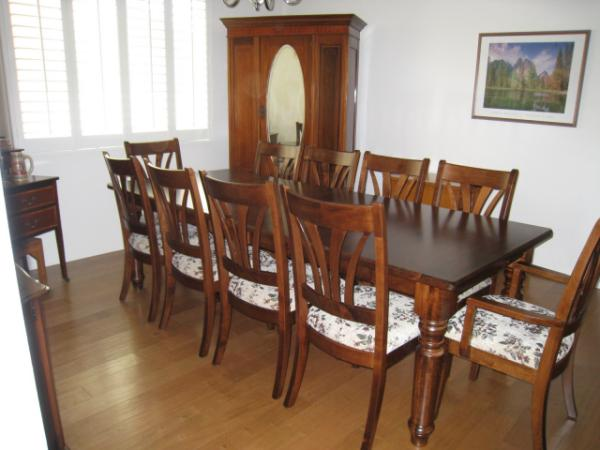 Berkshire Leg Dining Table and McCohen Dining Chairs from Amish Furniture Factory