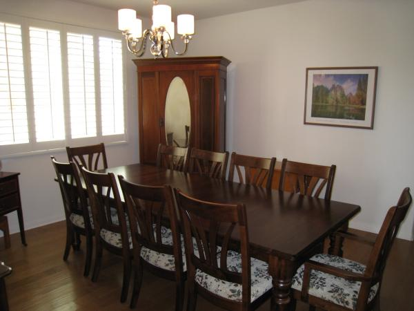 Berkshire Leg Dining Table and McCohen Chairs from Amish Furniture Factory