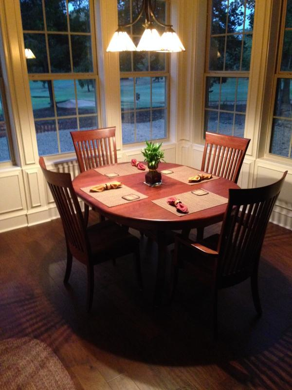 Carlisle Oval DIning Table and Carlisle Dining Chairs from Amish Furniture Factory