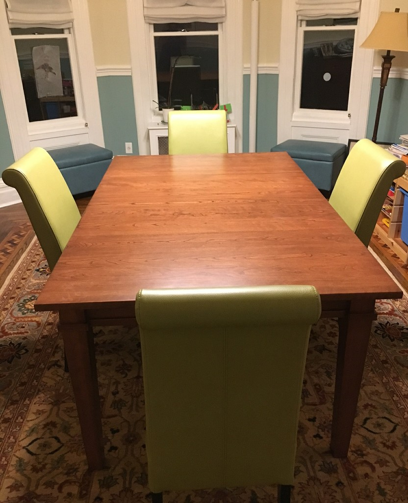 Ethan Leg Dining Table from Amish Furniture Factory in a classic modern dining room