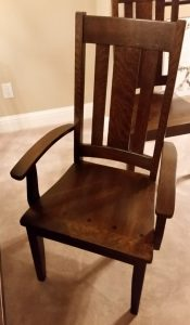 Jacoby Dining Chair in quarter-sawn white oak with Rich Tobacco stain from Amish Furniture Factory