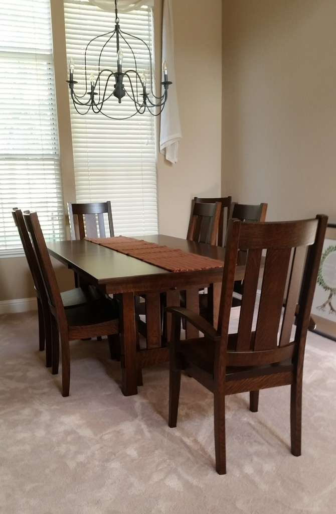 The Aspen Dining Table And Jacoby Chairs In Quarter Sawn White Oak Rich