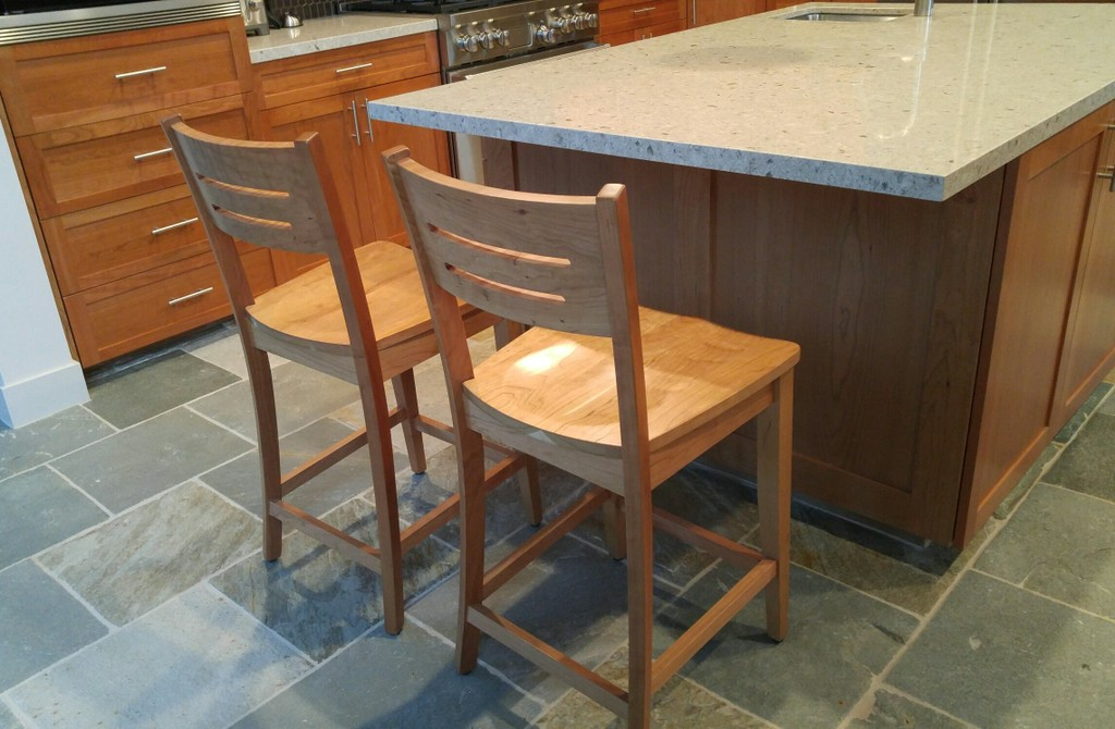 Jansen Bar Chairs in cherry with natural finish from Amish Furniture Factory
