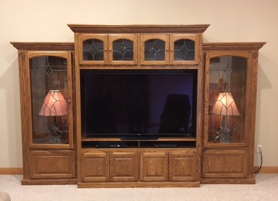 Amish Victorian 3 Piece TV Wall Unit with Bookcases from Amish Furniture Factory
