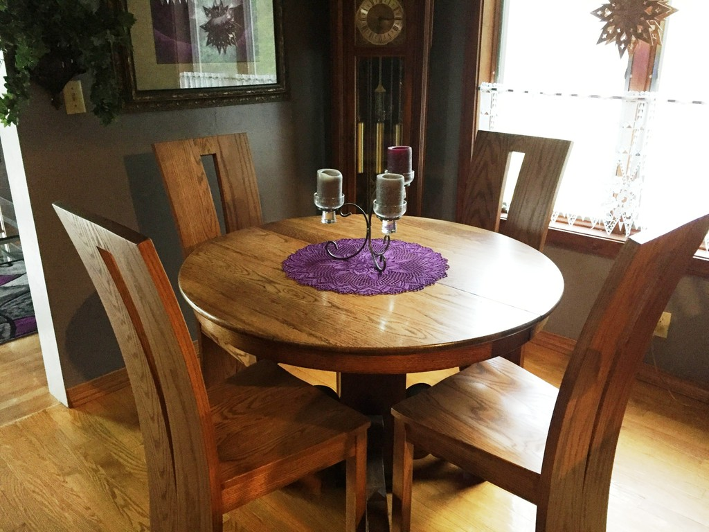 Delphi Dining Chairs in oak with Sealy stain from Amish Furniture Factory