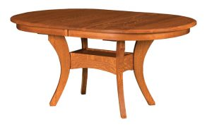 Another picture of the Imperial Double Pedestal Dining Table from Amish Furniture Factory