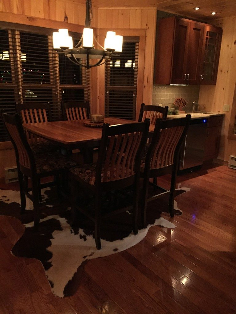 Dining table and chairs with two-tone finish from Amish Furniture Factory