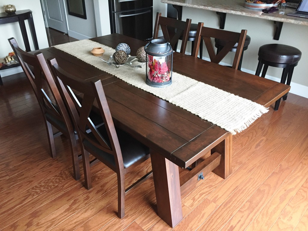 The Ouray Dining Table and Kenwood Dining Chairs from Amish Furniture Factory