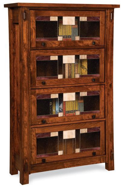 Amish Craftsman 4 Door Barrister Bookcase