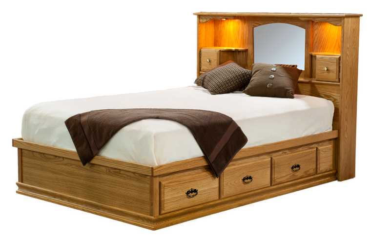 Amish Traditional Captains Bed