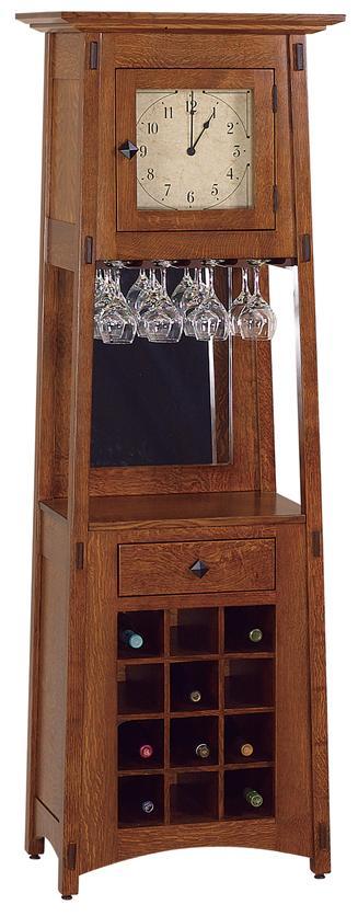 Amish McCoy Wine Rack Clock