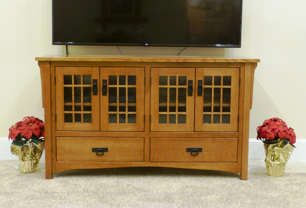 "Honeybee Mission 60"" TV Cabinet from Amish Furniture Factory"