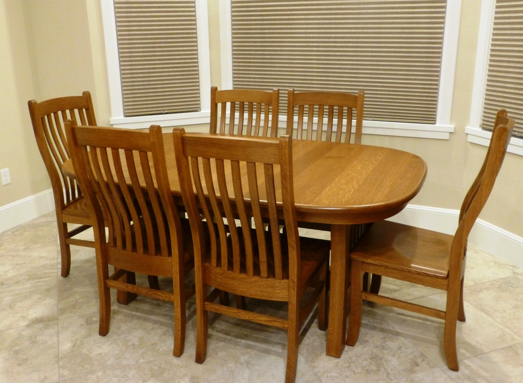 Arts & Crafts Trestle Dining Table and Chairs from Amish Furniture Factory