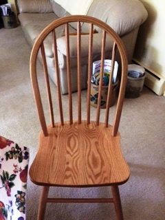 Econo Dining Chair in oak with Wheat stain from Amish Furinture Factory