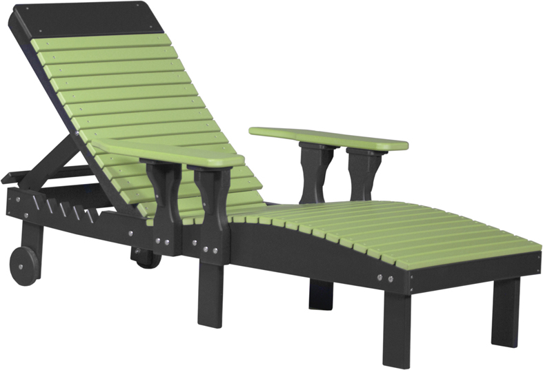 Poly Vinyl Lounge Chair in lime green and black from Amish Furniture Factory