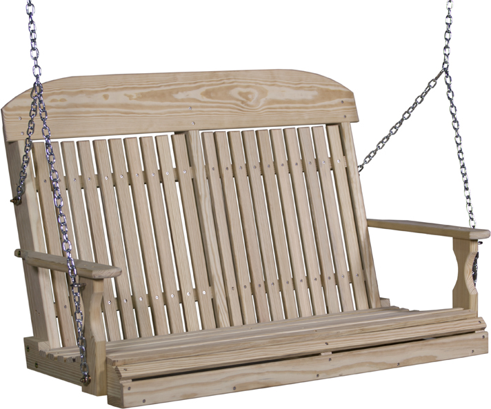 4' Classic Highback Pinewood Swing from Amish Furniture Factory