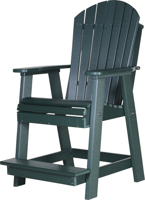 Adirondack Poly Vinyl Balcony Chair in green from Amish Furniture Factory