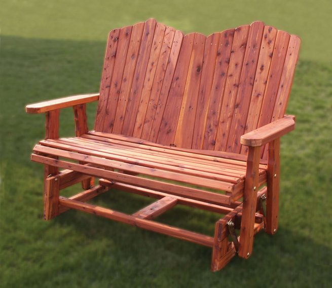 "48"" Loveseat Glider in aromatic red cedar from Amish Furniture Factory"