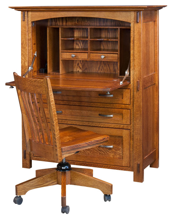 The Modesto Secretary Desk from Amish Furniture Factory