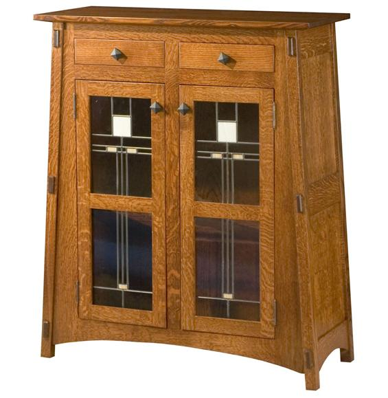 A McCoy with Glass Panels Storage Cabinet from Amish Furniture Factory